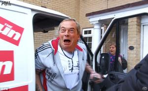 Farage van plan comes off