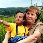 david cameron, angela merkel, europe's future, uk polotics, satire, funny
