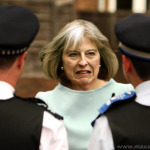 May just can't conceal her contempt for the police