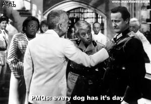 Cameron has to put Flashman away for PMQs