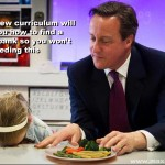 First it was Maggie's milk, now it's Cameron's grub