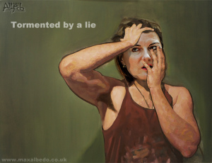 Tormented by a lie