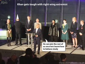 Khan gets tough