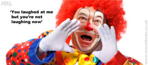 Farage clown
