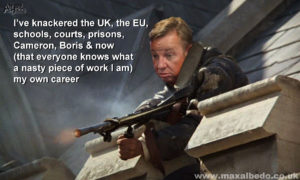 Gove puts boot in