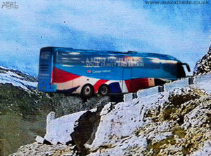Tory Battle bus cliff
