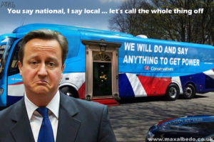 Tory battle bus