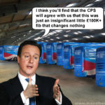 Tory battle bus depot