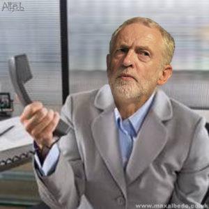 Corbyn on phone