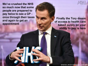 Hunt's health squeeze