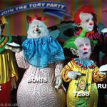 May's conference clowns