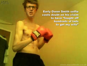 Smith's boxing selfie