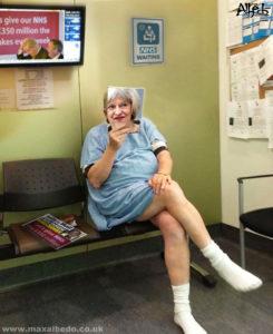 May's NHS visit