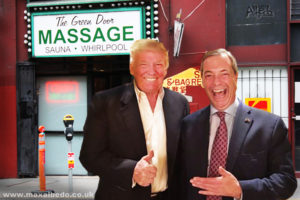 Trump Farage massage
