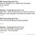 Trump May tweets